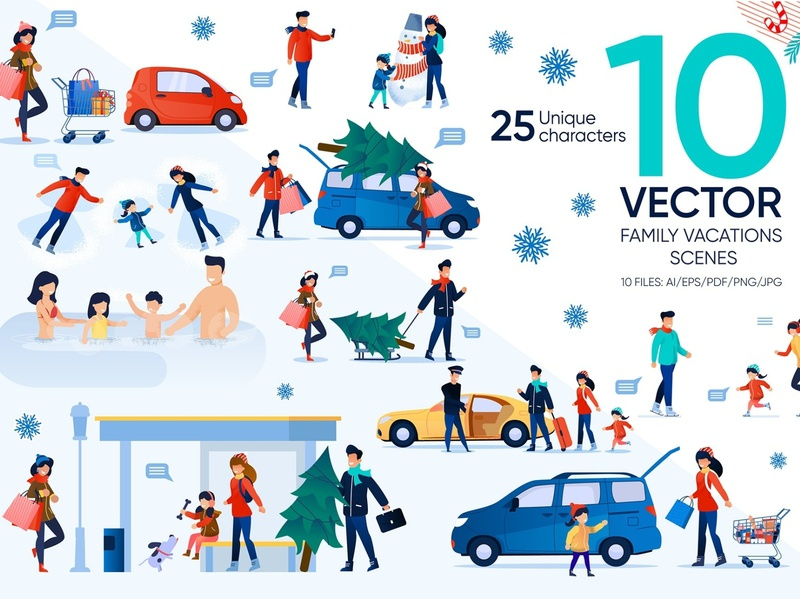 Christmas Vector Scenes