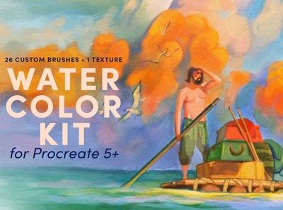 Watercolor Kit – Procreate Brushes