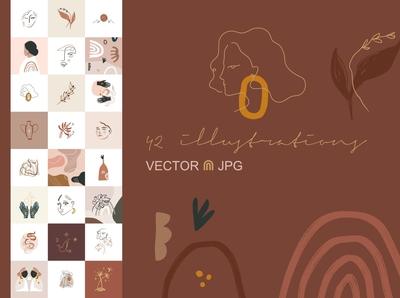 Terracotta Vector Illustrations Set