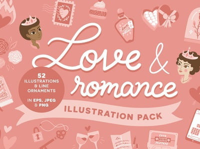 Love & Romance vector illustrations