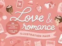 Love & Romance vector illustrations