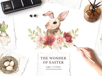 The Wonder of Easter. Watercolor set