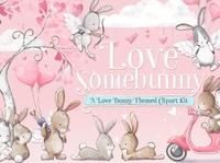 Love Somebunny Valentine's Clipart