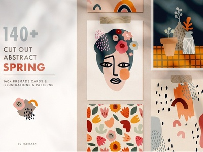140+ abstract cut out spring set clipart designs vector background designer simple creative art geometric womens day card easter card design elements abstract shape poster illustration design shapes shape abstract