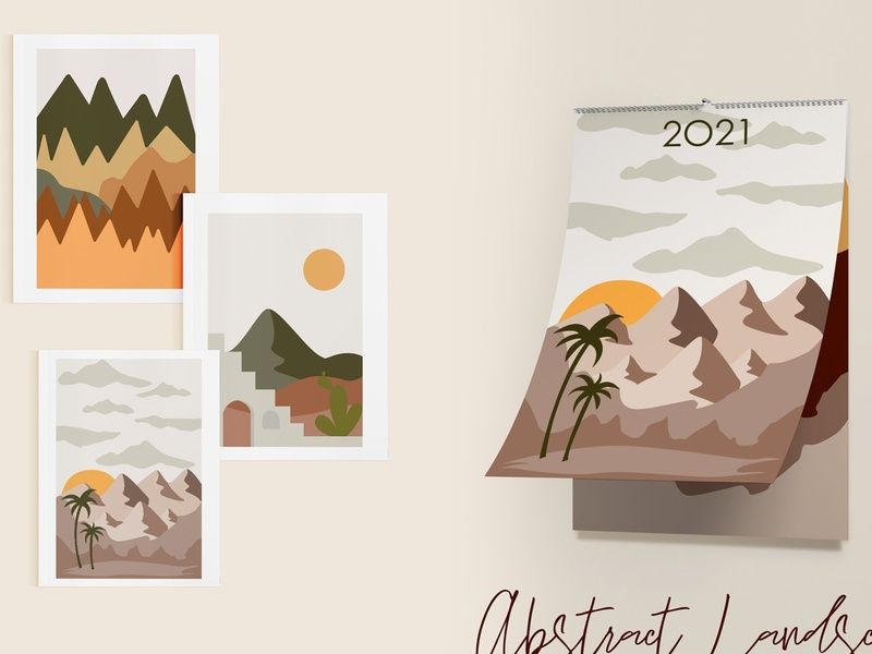 Abstract Landscape Creation Kit modern abstract abstract logo abstraction leaf logo leaves vector illustration abstract design abstract art design shapes shape abstract shape creation kit landscape creation kit landscape creation creation landscape abstract
