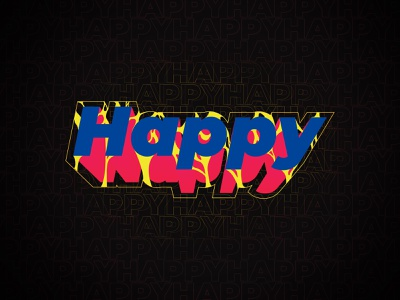 Just Be Happy vector fun type design type