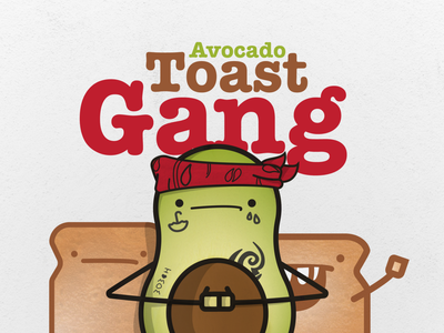 Avocado Toast Gang ATG personal project personal green toast avocado digital illustration art food fun vector illustrator illustration