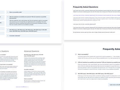 Some 'Frequently Asked Questions' designs minimal landing page faq