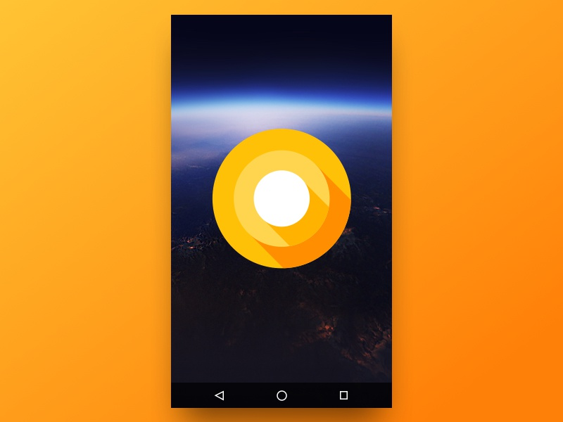Free Android O Developer Preview Screen logo icon app mobile o android download freebies