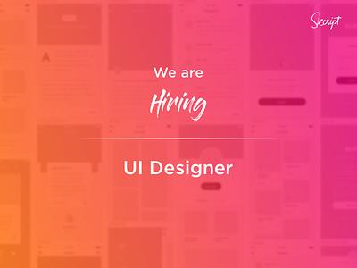 We're hiring! announcements skcript gradient hiring