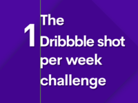 The 1 Dribbble shot per week challenge