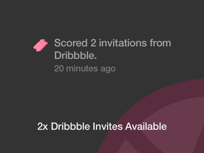 2x Dribbble Invite Giveaway 2 dribbble invitation invite