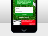 Football Magazin iOS APP - Loginscreen