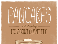 Pancake poster - After being on the computer