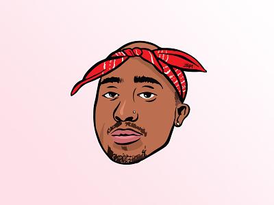 Tupac hip hop rap ipad pro illustrator illustration digital art