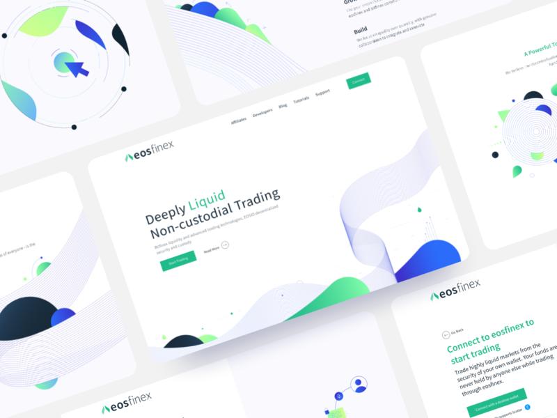 eosfinex / Web animated illustration flat founds wallet market trading cryptocurrency figma minimal design branding website imagery app web typography ux ui