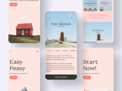 Mercor / Real Estate App house realestate home real estate flat imagery minimal grid figma app concept typography ux ui