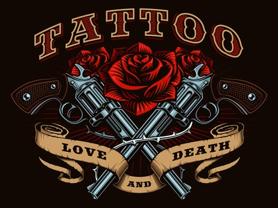 Guns And Roses Tattoo Design By Harry Kasyanov Dribbble