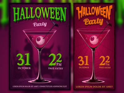 Design of Halloween posters