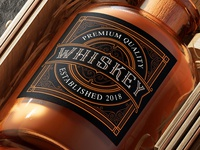 Design Template of Whiskey Label