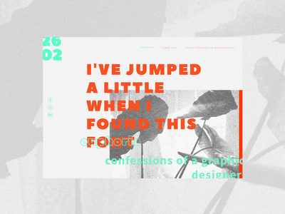 Visual Diary | Post 14 graphic design poetry typography layout web website ux ui