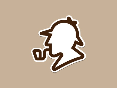 Sherlock Holmes ux research consulting detective sticker holmes sherlock