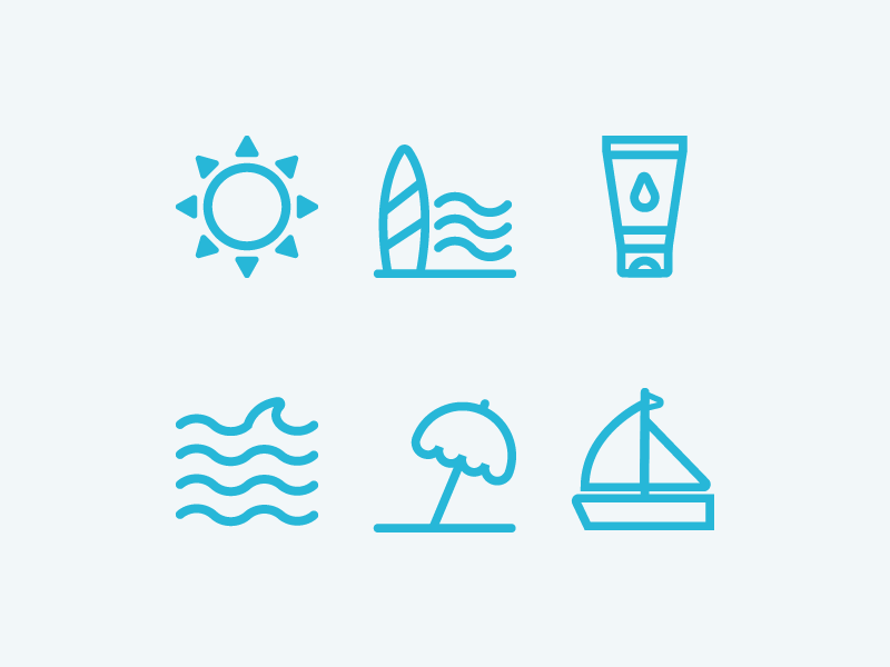 ☀️Summer Icons by Evoria on Dribbble
