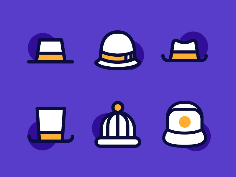 Hat Icons old hat magic cap hat hats line icon iconography icon vector