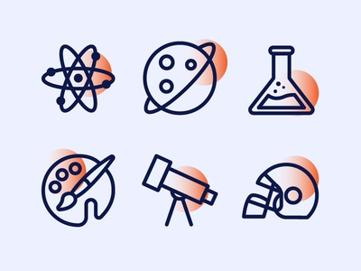 Education Icons 3 Classes
