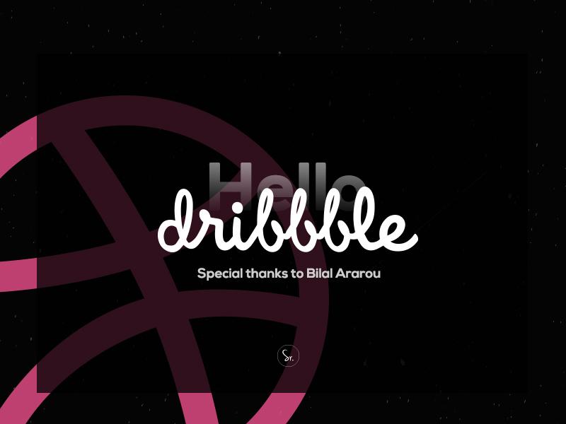 Hello Dribbble logo branding dribbblers dribbble hello