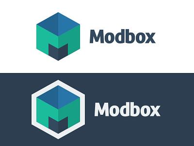 Modbox Logo modbox logo icon flat geometric minimal