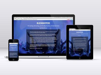 Blockbusters book website responsive design bootstrap
