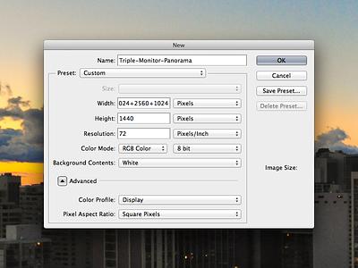 Photoshop Pixel Math photoshop feature concept triple monitor