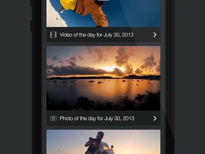 iOS7 Practice - GoPro gopro ios7 iphone flat
