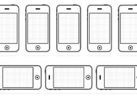 Iphone drawing template full