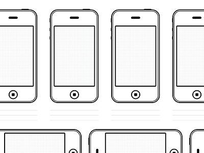 Iphone4 Drawing Template Freebie