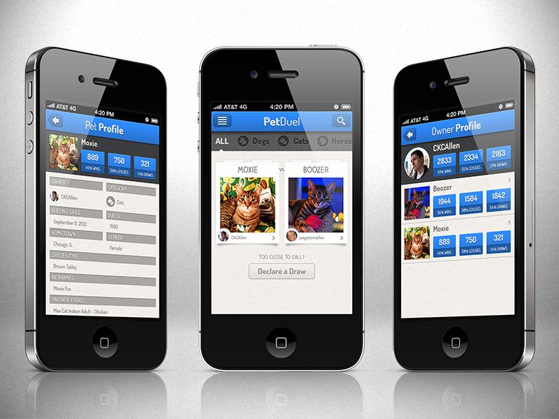PetDuel Profiles petduel iphone app retina pets