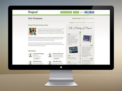 Peapod - Our Company peapod web design homepage css3 ecommerce
