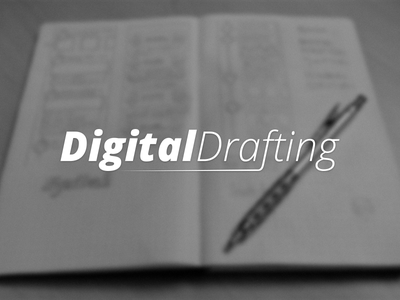 Digital Drafting digital drafting tumblr logo sketch ui design