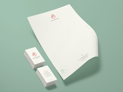 Edna Brener — Stationery health coach business cards corporate id nutrition miami health natural organic letterhead stationery