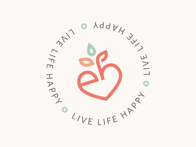 Edna Brener — Stamp nutrition happy live coach health natural tagline logo symbol seal stamp graphic