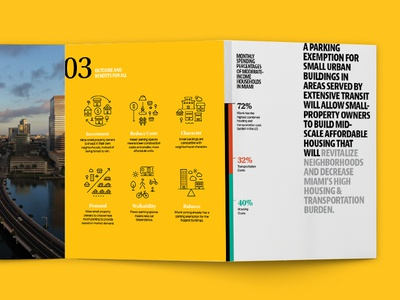 Naked Policy Project — Brochure non-profit typography sustainable infographic brochure iconography policy miami
