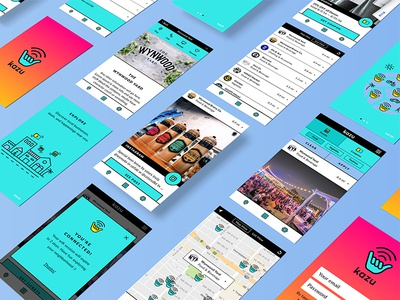 Kazu — App gradient hang loose good vibes shaka ui feed wifi vibrant app