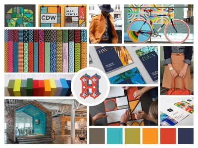 Moodboard - Playful and expressive saturated social playful expressive inspiring happy design direction colorful mood board moodboard creative direction branding