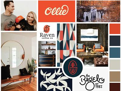 Branding Moodboard - easy-going orange modern moodboard mood board branding
