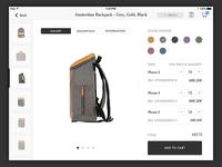 Monoqi Product Detail on iPad