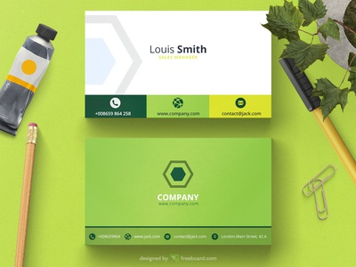 Corporate green business card template by freebcard dribbble corporate green business card template wajeb Gallery