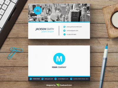 Corporate blue business card template