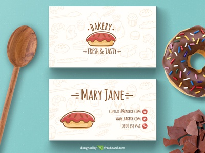 Bakery business card template bakery freebcard free card design free template business card