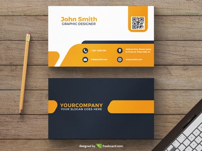 Corporate yellow business card template yellow freebcard free card design free template business card
